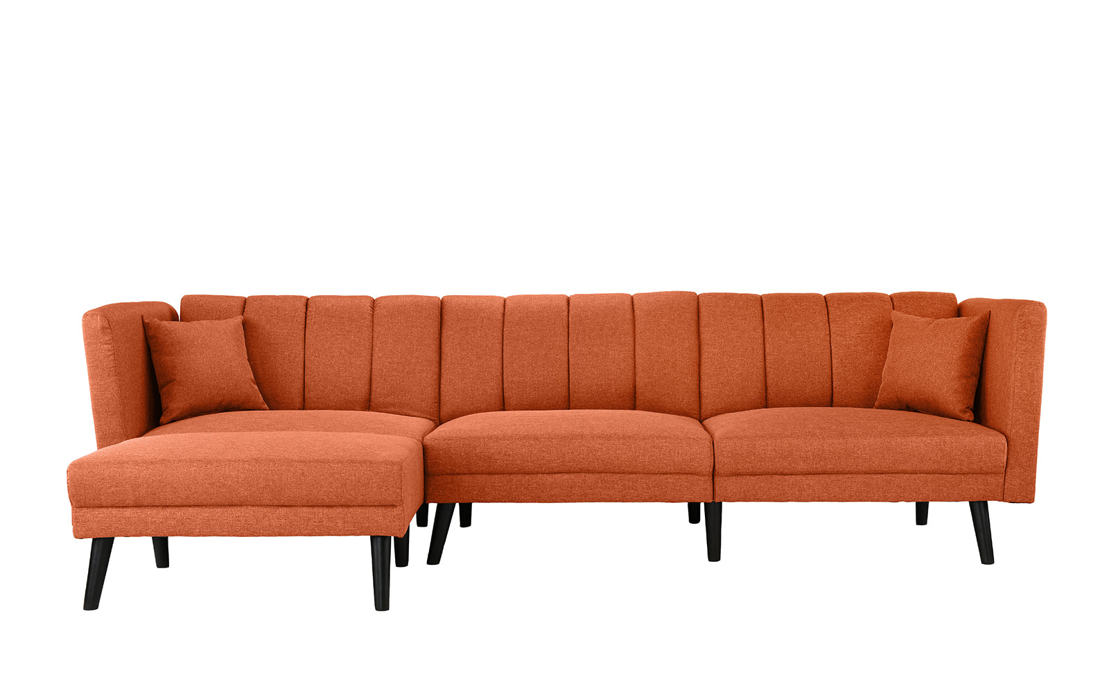 Zuri Mid Century Reclining Sleeper Sectional