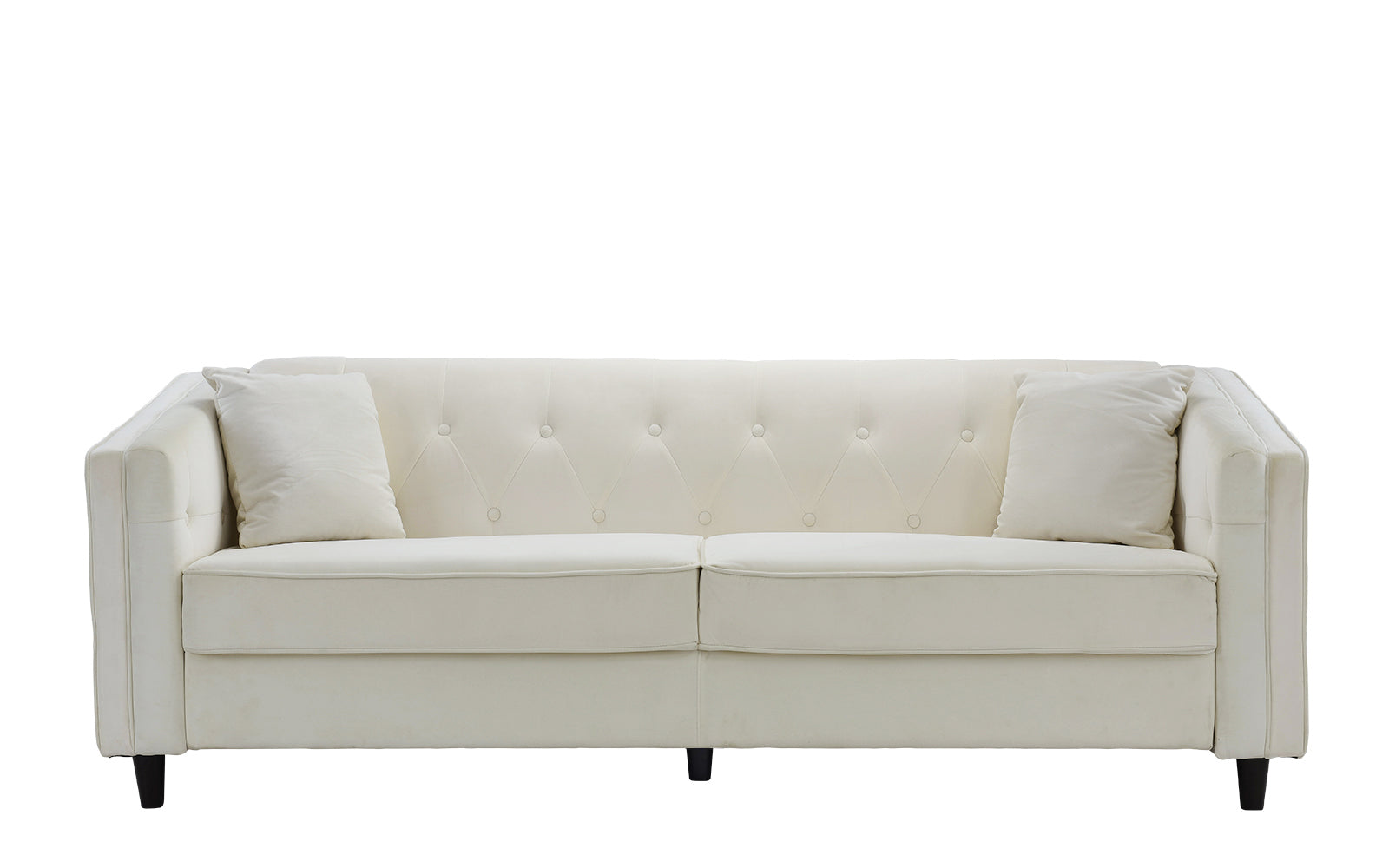 Adelia victorian velvet sofa with tufted button accents for Button tufted chaise settee velvet