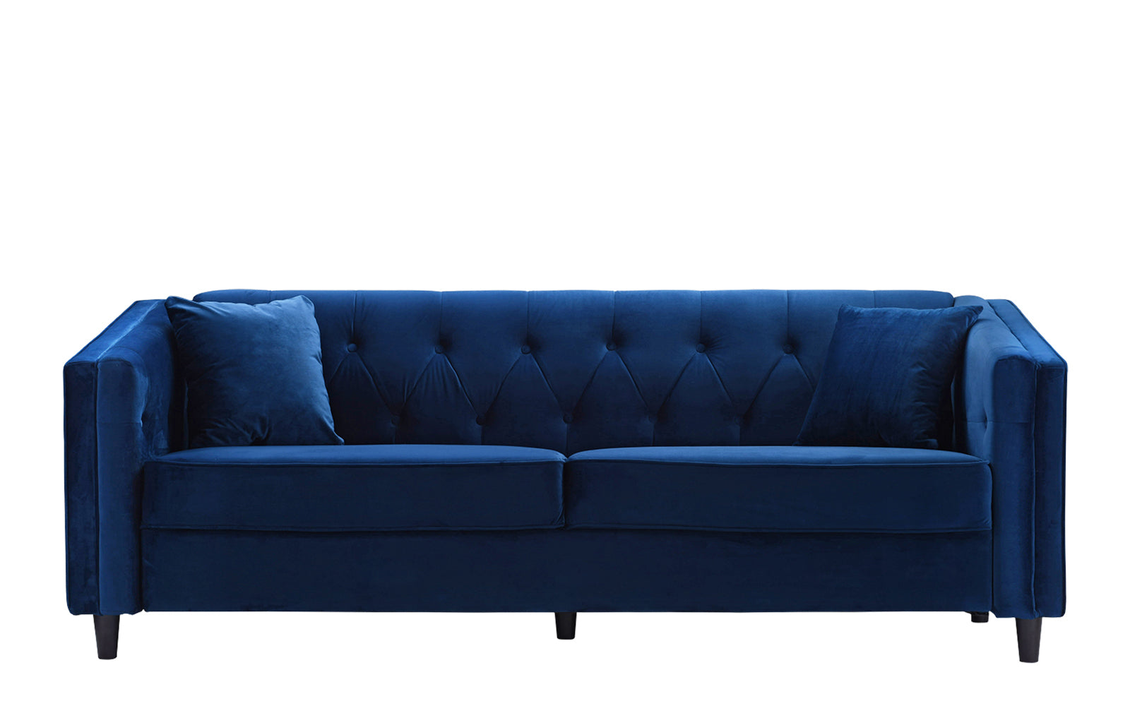Adelia victorian velvet sofa with tufted button accents for Button tufted velvet chaise settee green