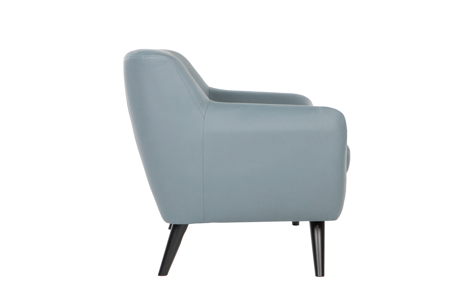 Nico Mid Century Modern Bonded Leather Chair Side Profile ...