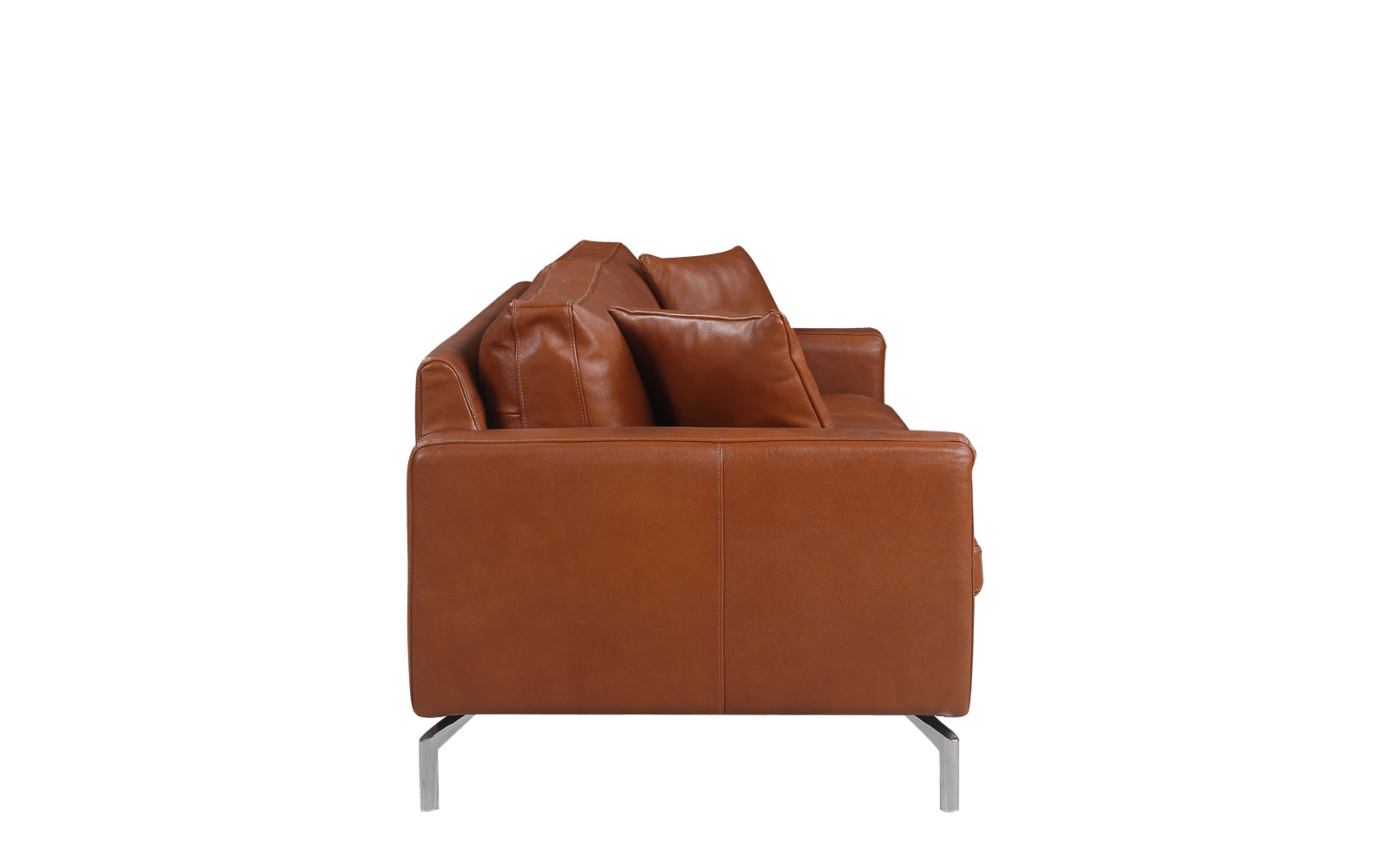 contemporary living room couches. Sebastián Plush Leather Mid Century Modern Living Room Sofa Camel Side Shot Contemporary Couches