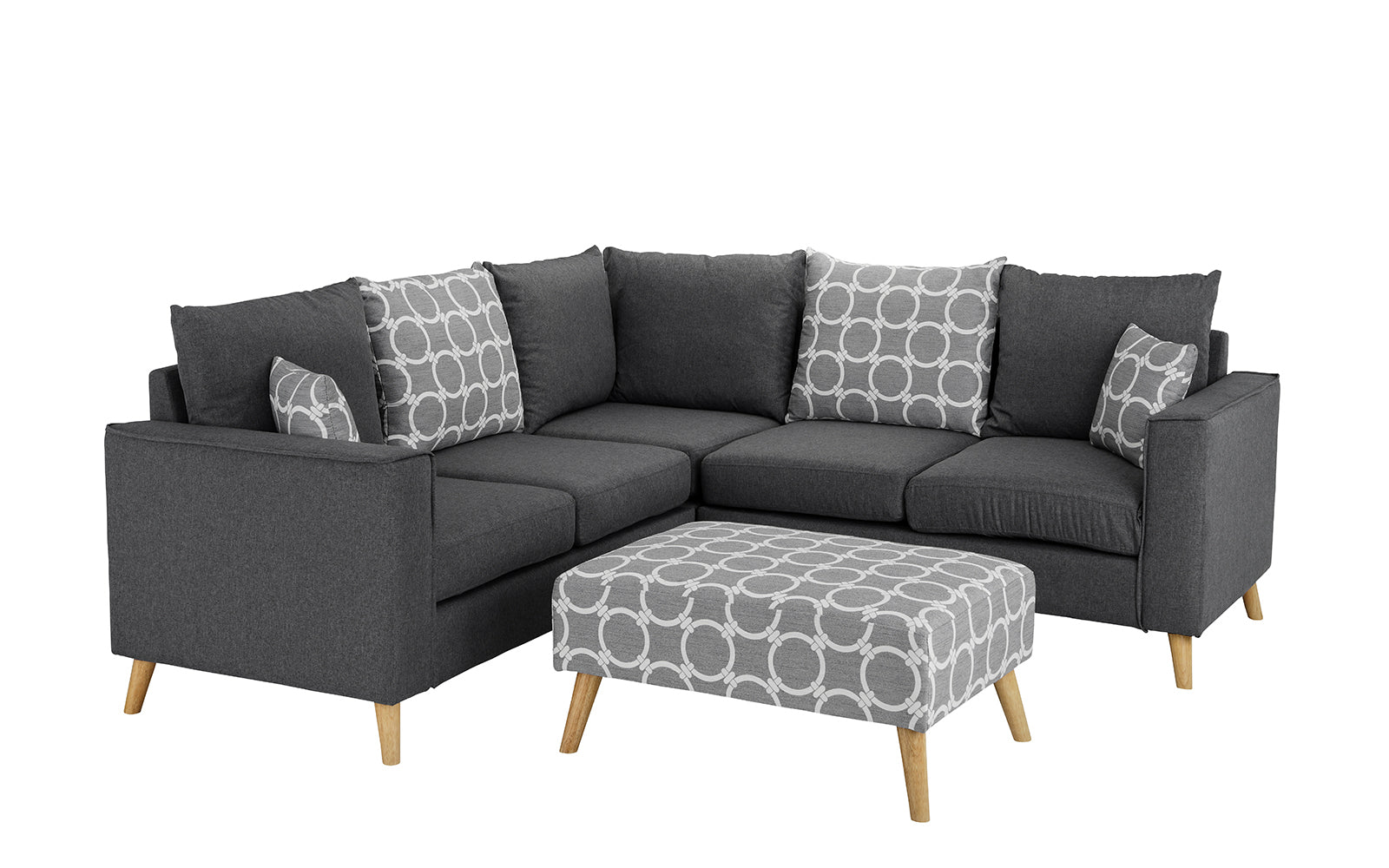 Fabric Sectional Sofa Ottoman Image