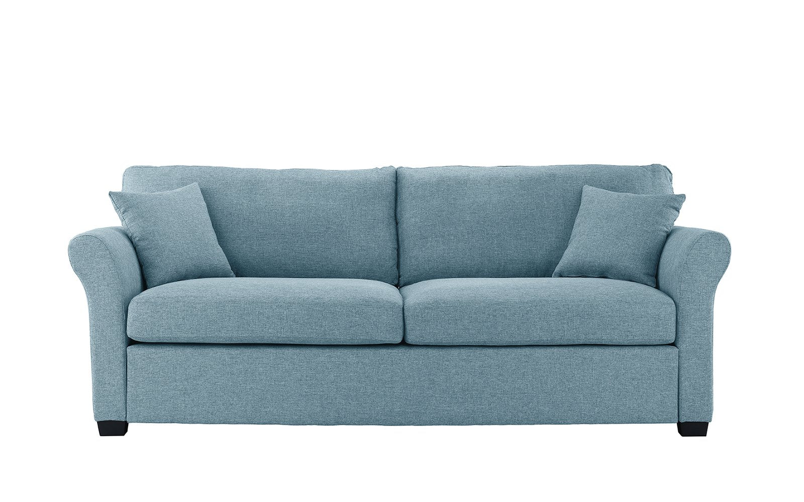 Carlyle Classic Ultra Comfortable Linen Sofa   Sky Blue ...