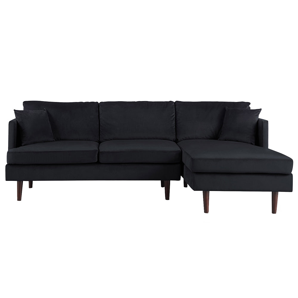 Jovanni Modern Brush Microfiber Sectional Sofa