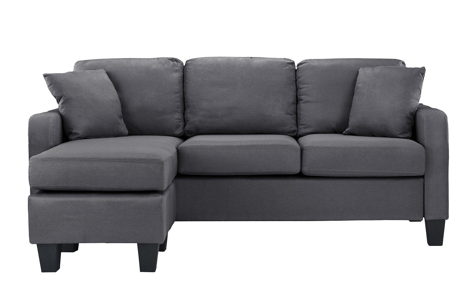 Small Linen Sectional Sofa Image