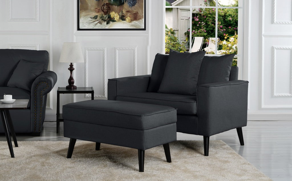 robertson modern accent chair with storage footrest - Modern Accent Chairs