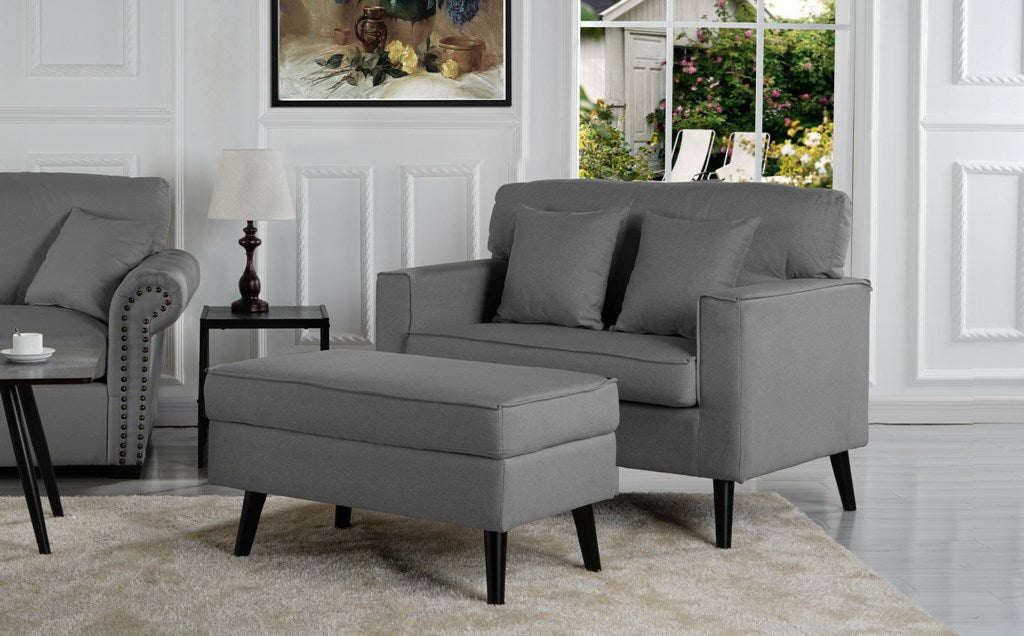 Timothy Modern Accent Chair With Footrest And Storage Compartment