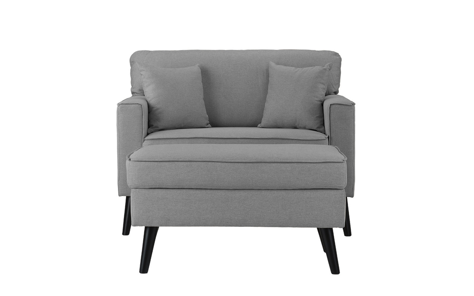 Timothy mid century oversized accent chair with footrest for Oversized occasional chairs