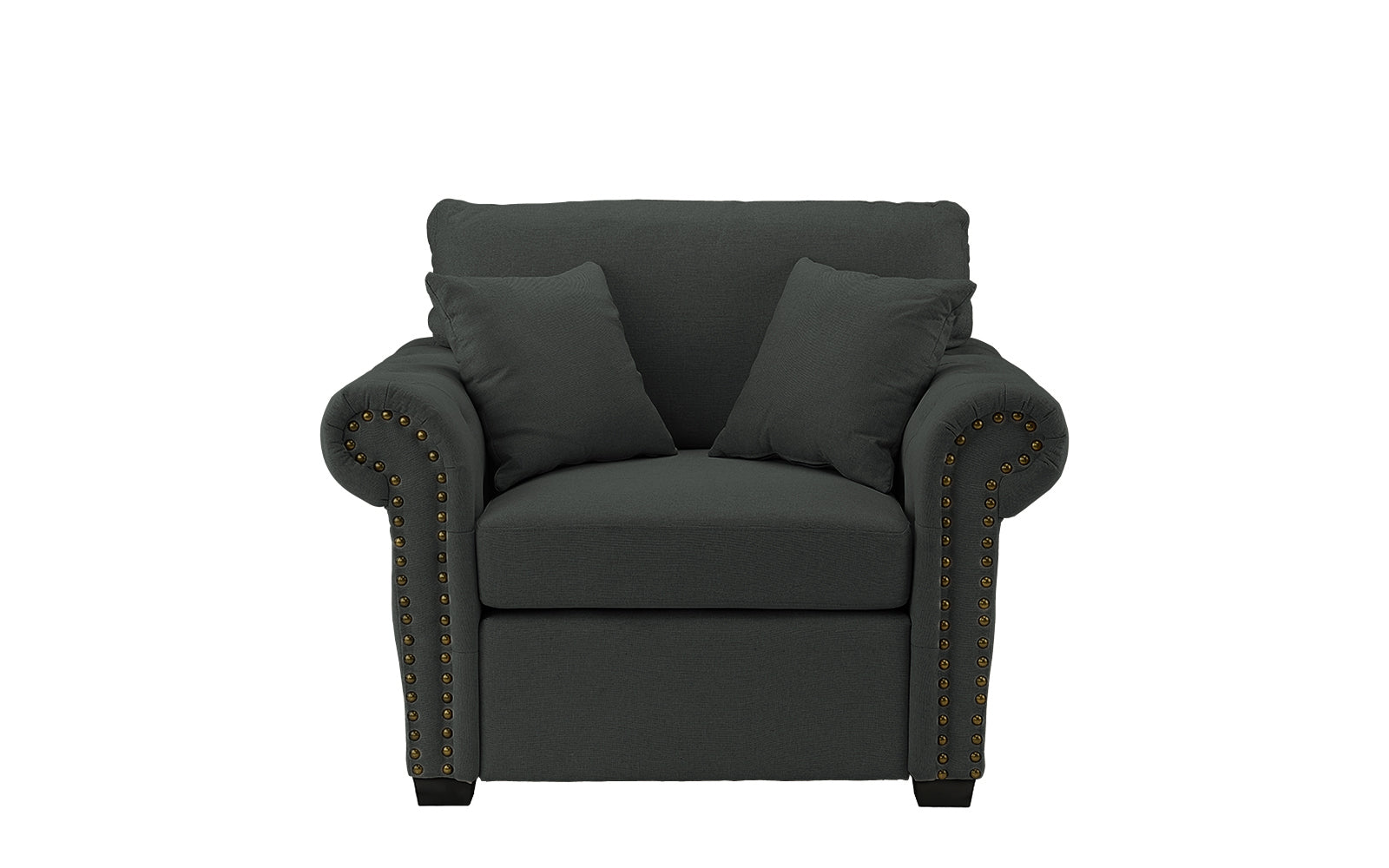 Linen Upholstered Armchair Image