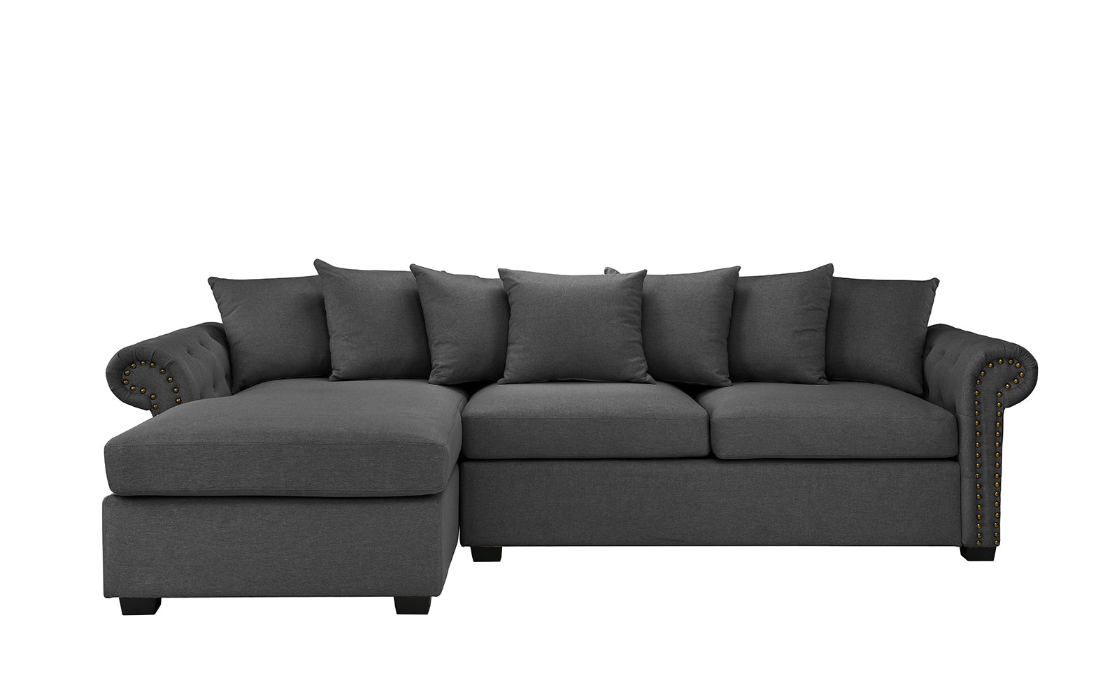 Linen Sectional Sofa Left Chaise Image
