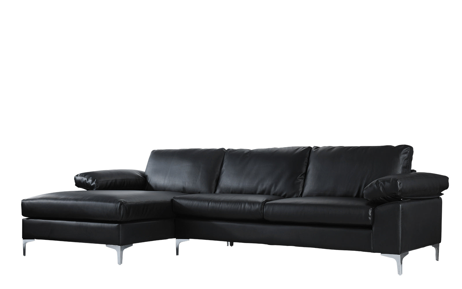 Astonishing Amanda Modern Faux Leather Large Sectional Sofa Sofamania Com Unemploymentrelief Wooden Chair Designs For Living Room Unemploymentrelieforg