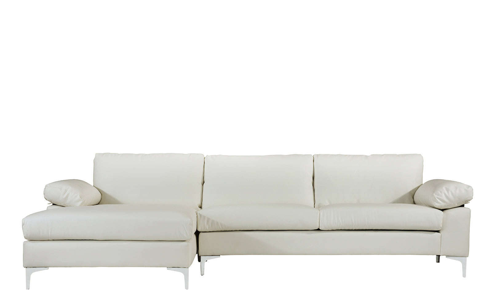 Amanda Modern Faux Leather Large Sectional Sofa  : EXP194 PU WH1 from www.sofamania.com size 1600 x 1000 jpeg 60kB