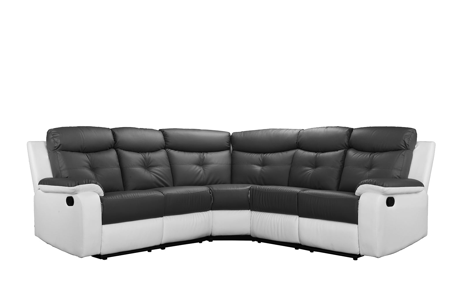 Leather Reclining Sectional Sofa Image