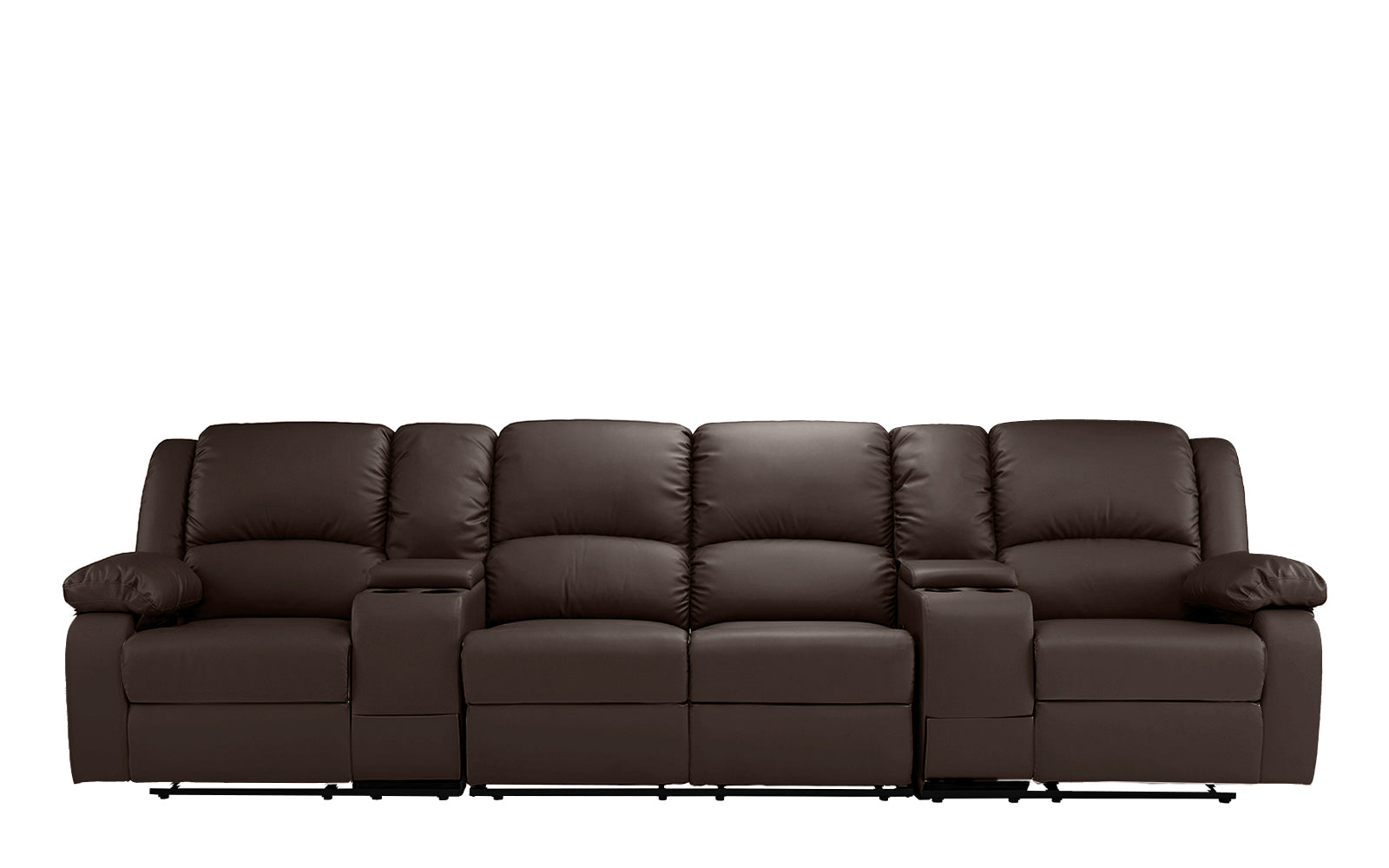 Heather 4 Seater Home Theater Recliner Sofa Sofamaniacom : EXP198 DBR1 1 from www.sofamania.com size 1600 x 1000 jpeg 135kB