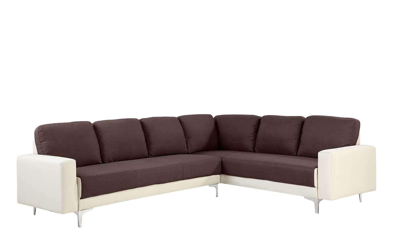 Luevano 2 Tone Linen Sectional Sofa