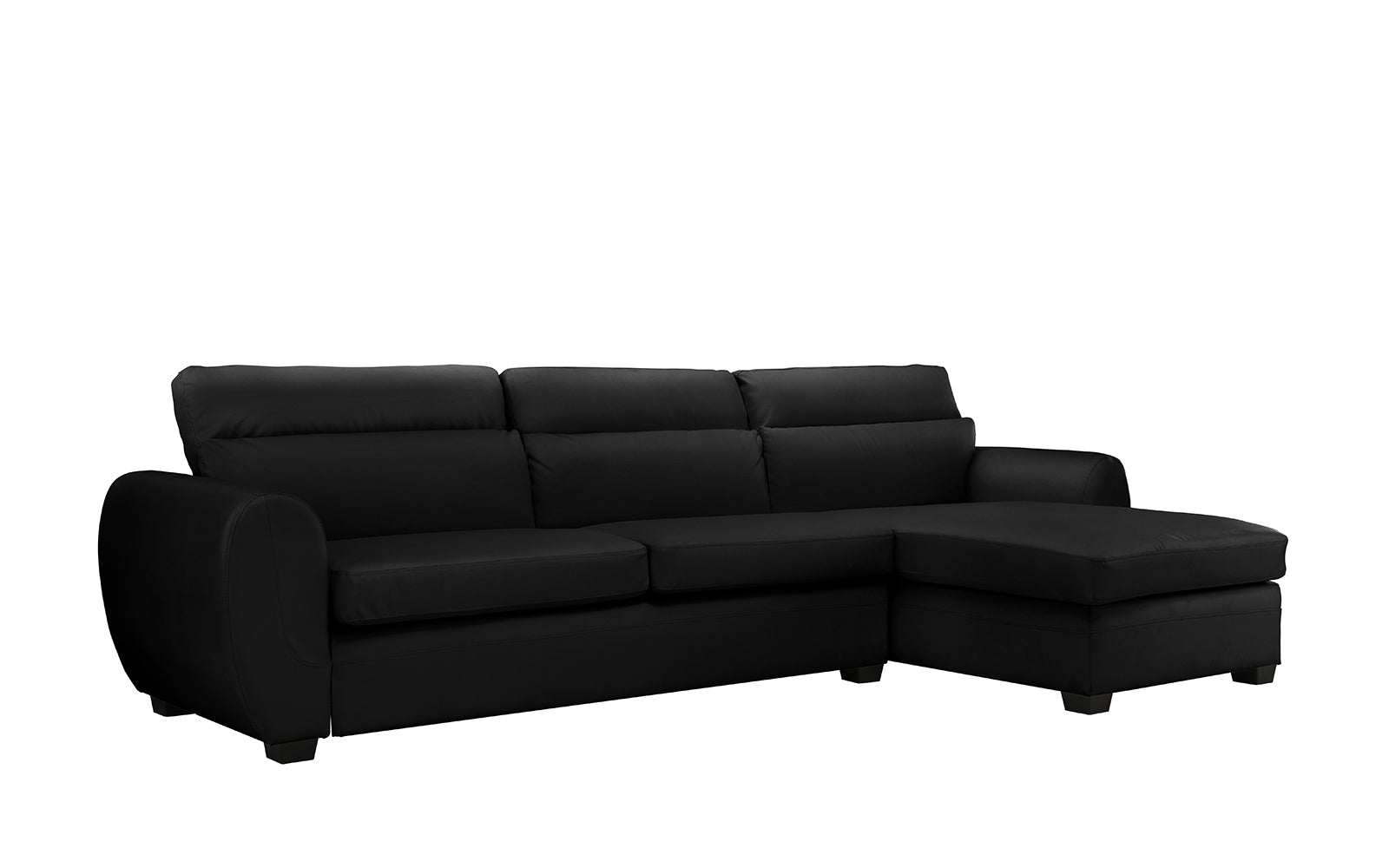 Zoe Modern Leather Sectional Sofa With Chaise