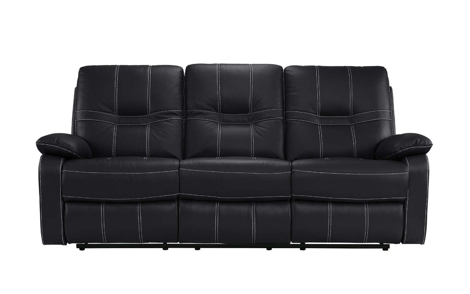 Carter Modern Reclining Leather Sofa