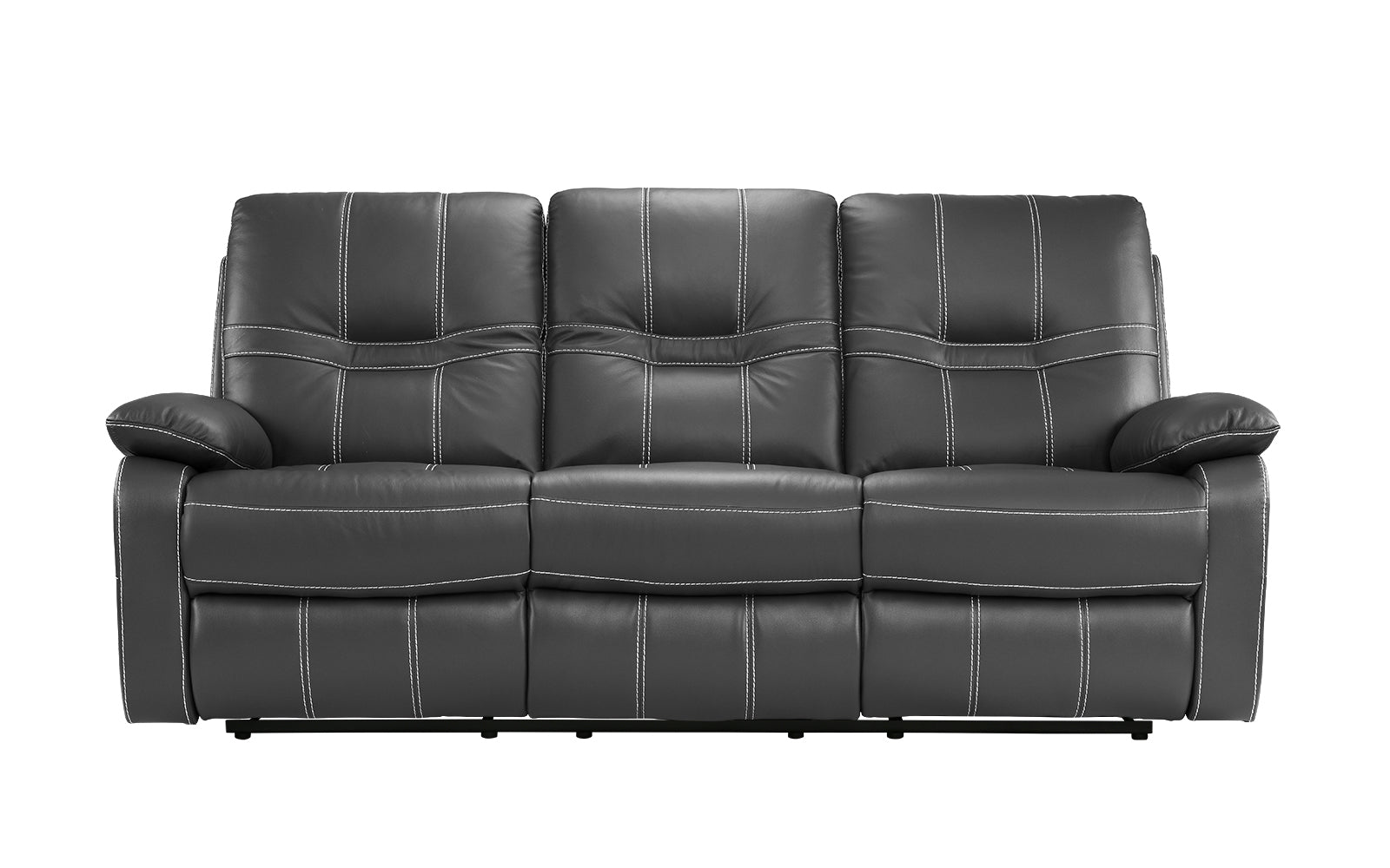 Carter Modern Reclining Leather Sofa Set | Sofamania.com