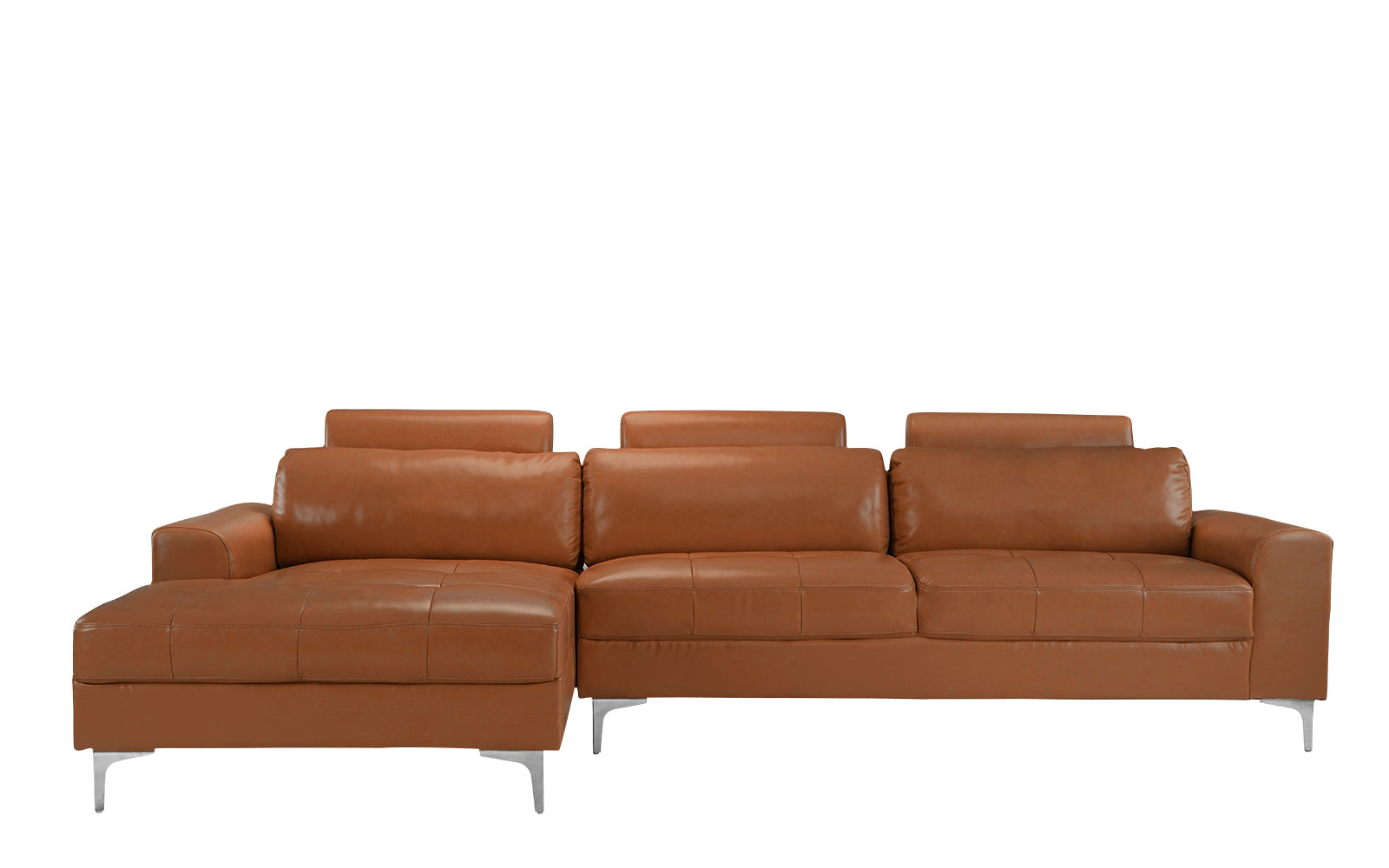 Kai Modern L Shape Sectional Sofa With Extra Wide Chaise