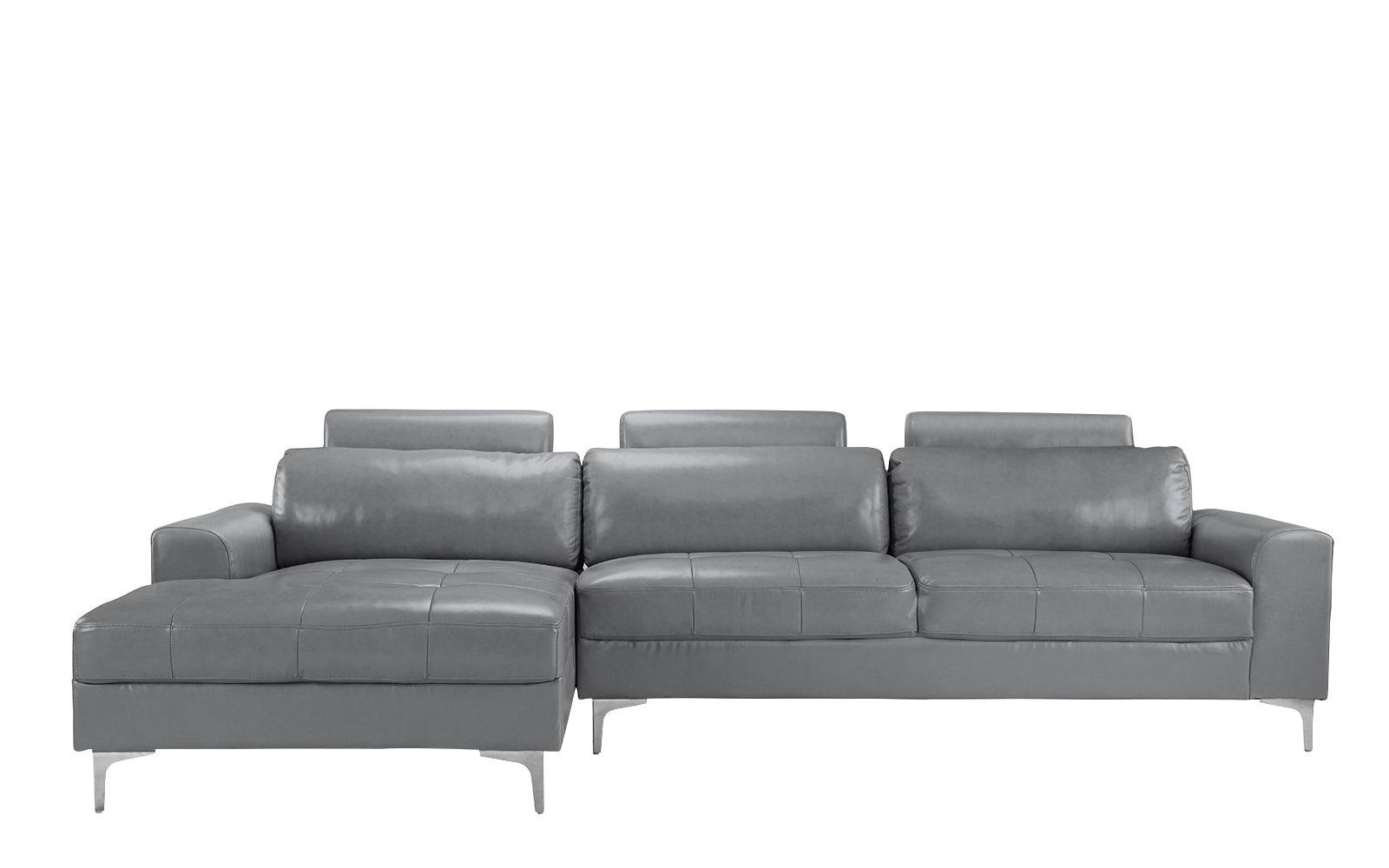 Leather Sectional Sofa Extra Wide Chaise Image
