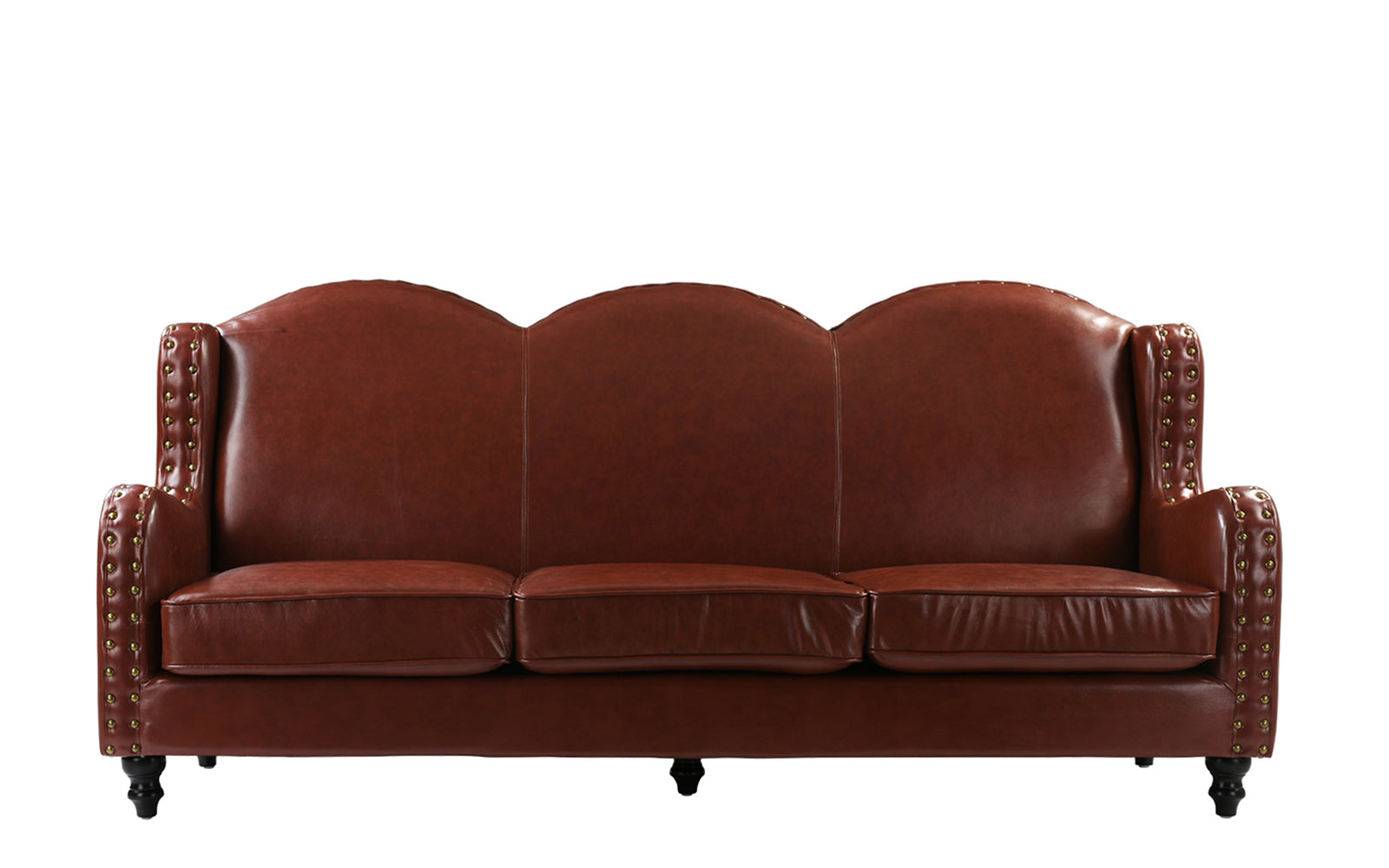 Wingback Leather Sofa Image