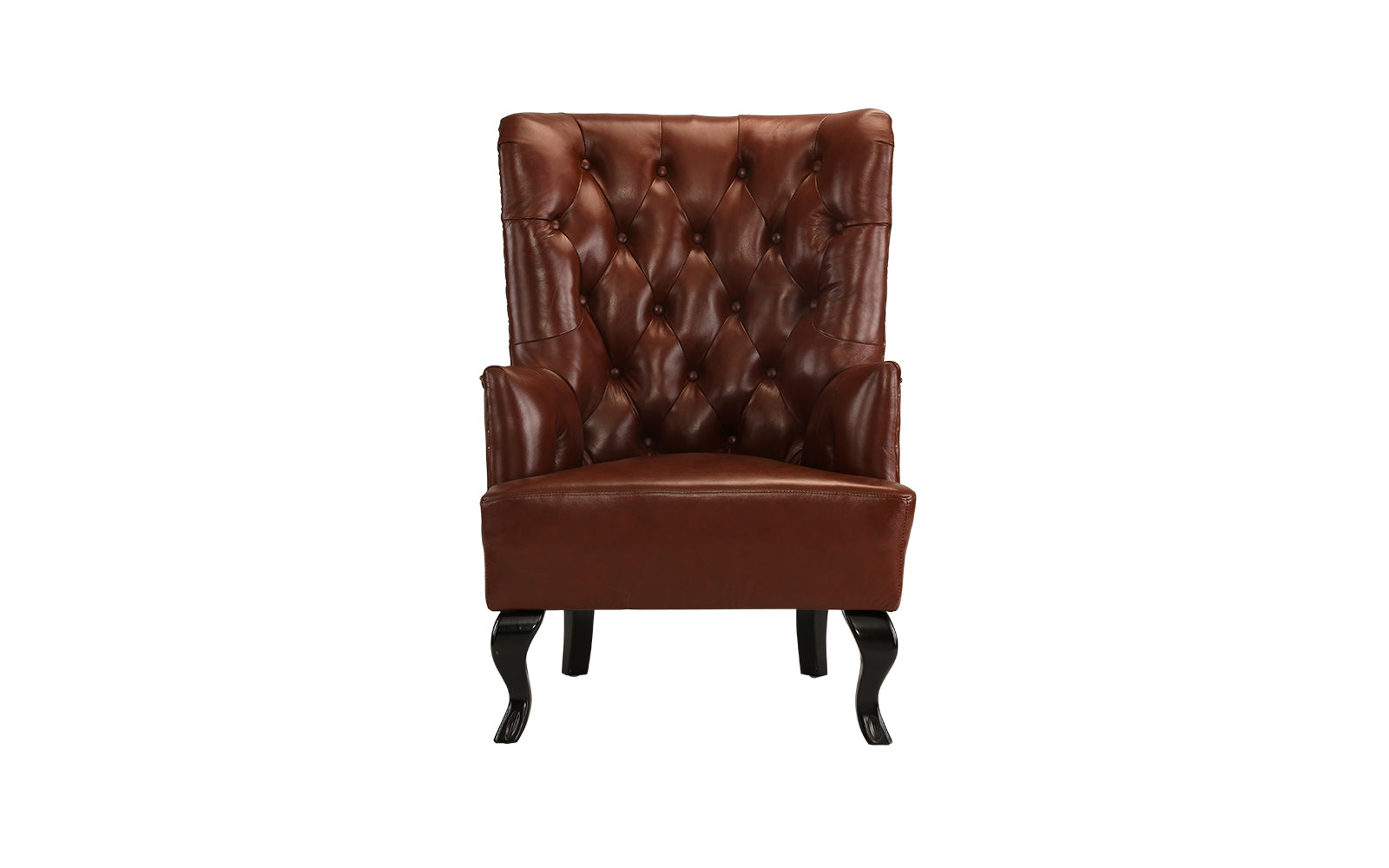 Etonnant Vera Traditional Tufted Leather Accent Chair