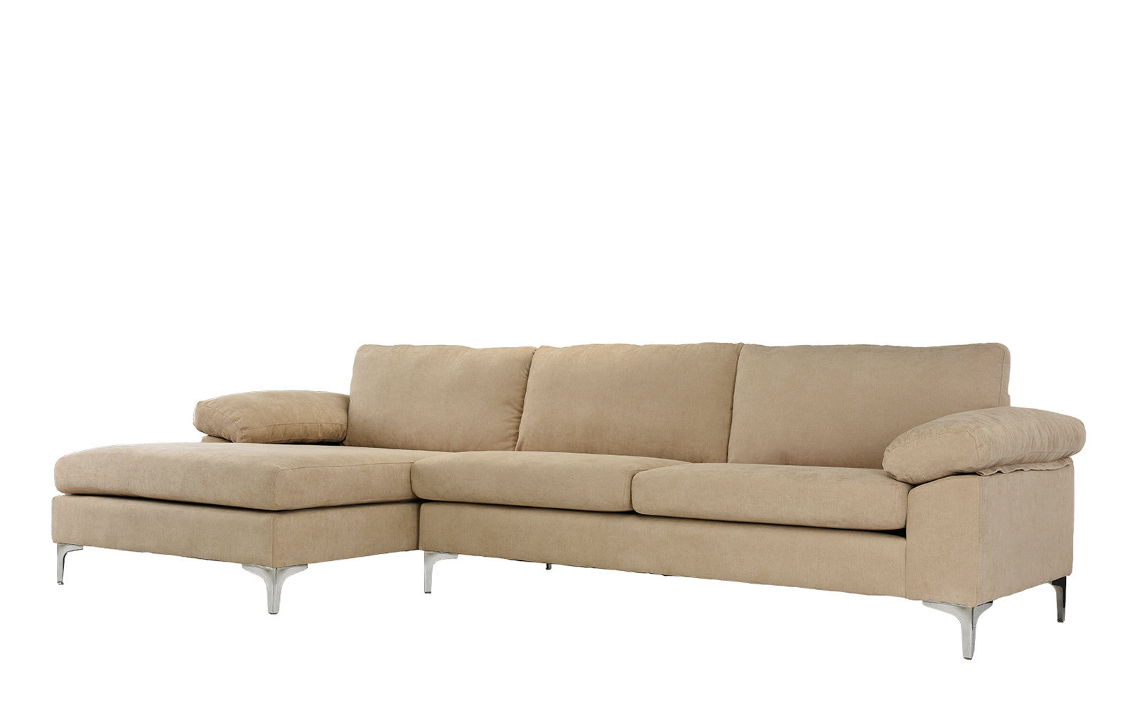 Luna Modern Sectional Sofa with Wide Chaise Sofamaniacom
