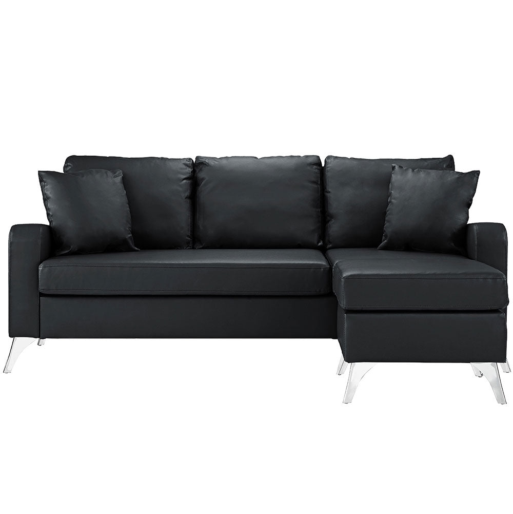 Alessio Faux Leather Small Space Sectional