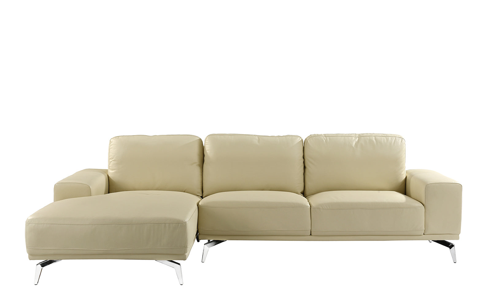 Benci Modern Low Profile L Shape Sectional Sofa With Left Chaise