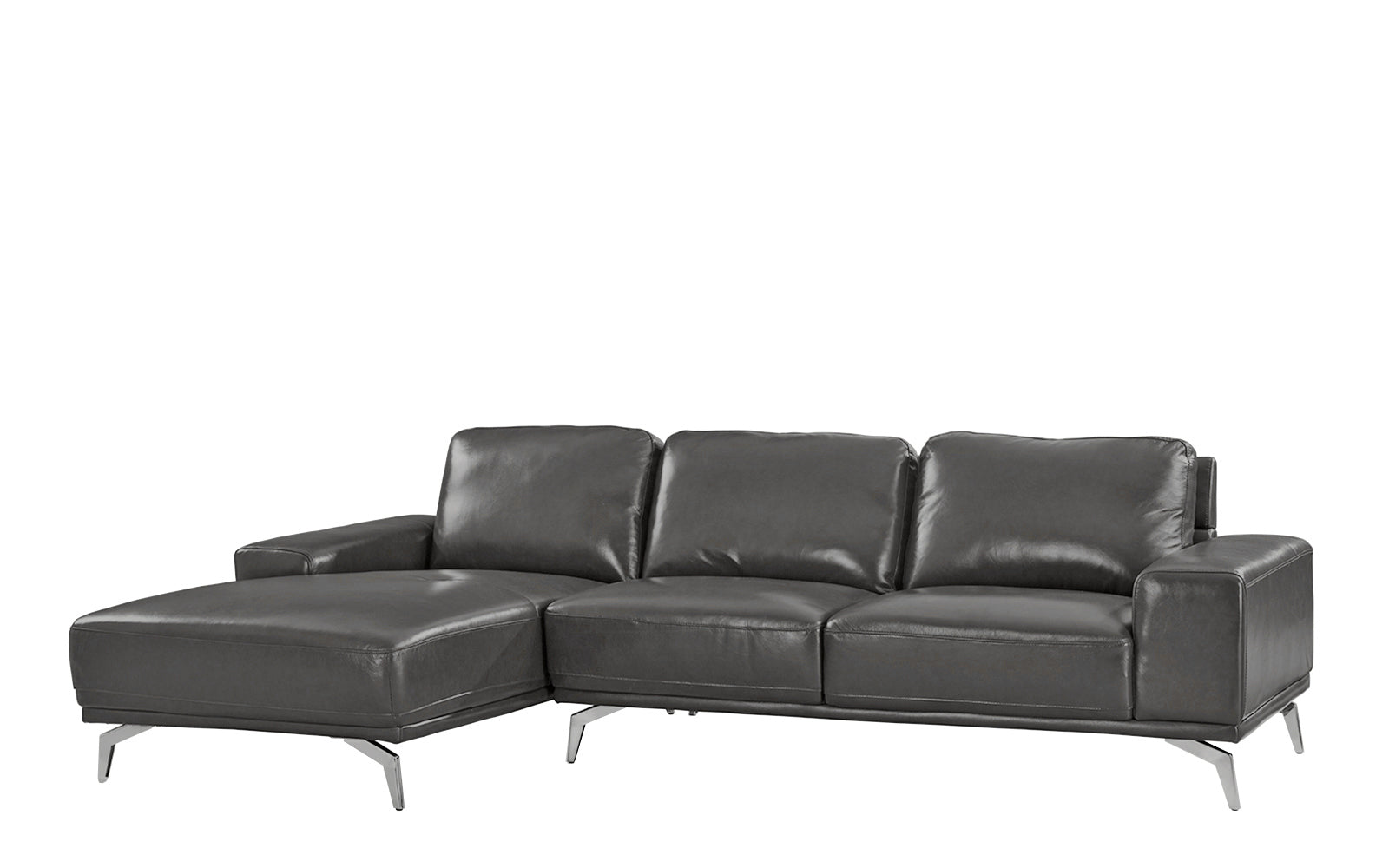 Benci Modern Low Profile L-Shape Sectional Sofa with Left Chaise ...