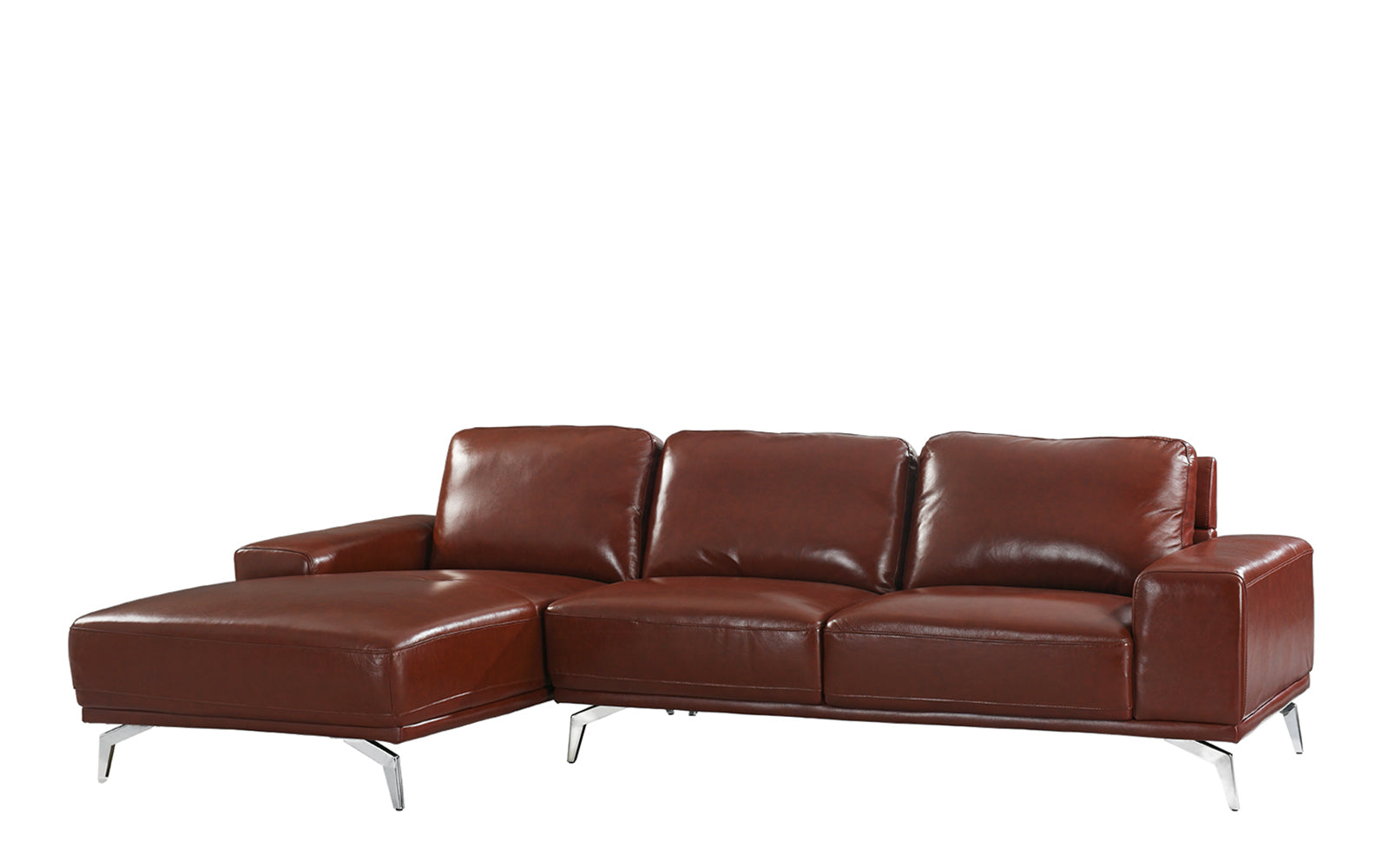 Benci Modern Low Profile L-Shape Sectional Sofa with Left ...