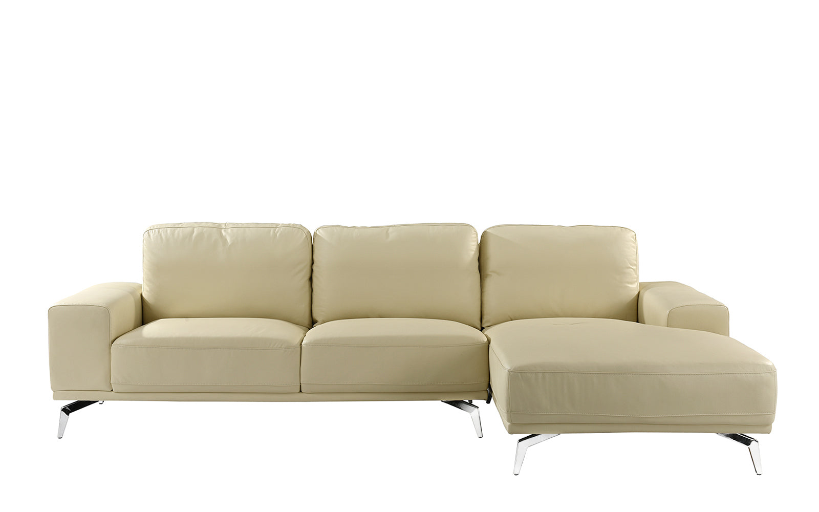 Benci Modern Low Profile L Shape Sectional Sofa With Right Chaise