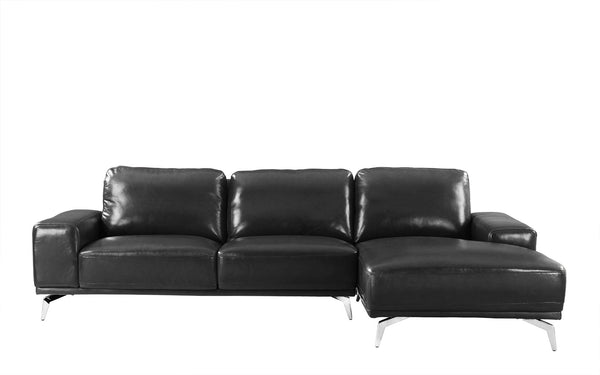 Benci Modern Low Profile L-Shape Sectional Sofa with Right Chaise