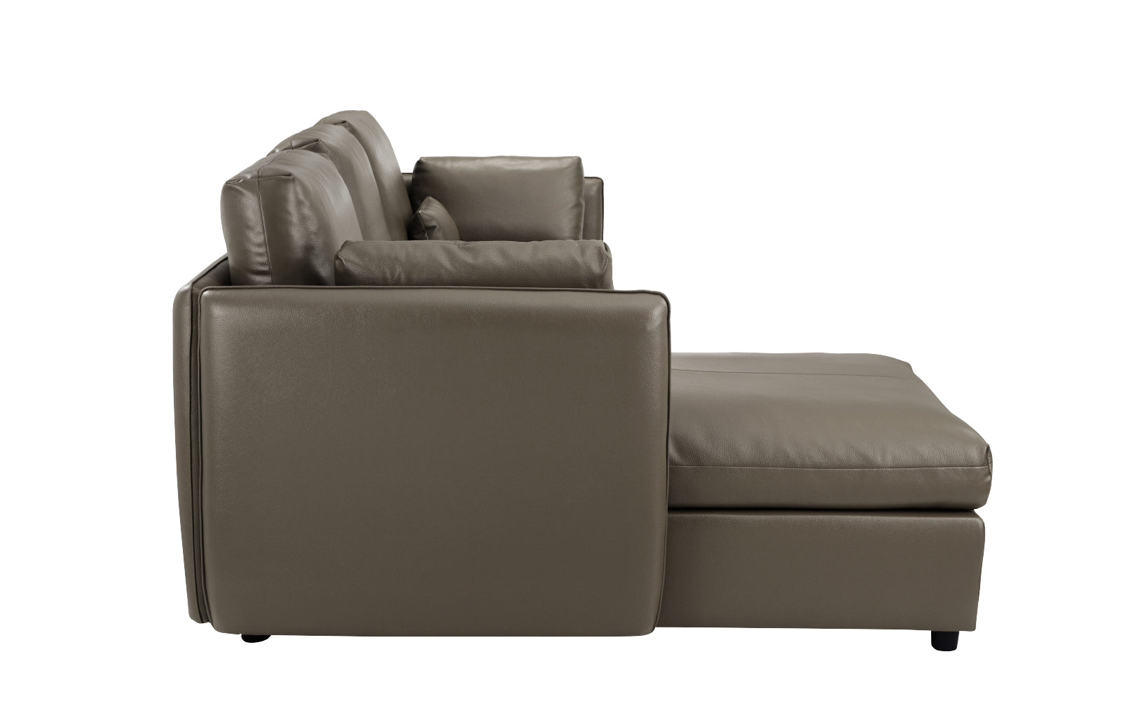 Avery Classic Leather Match Sectional Sofa With Left Chaise
