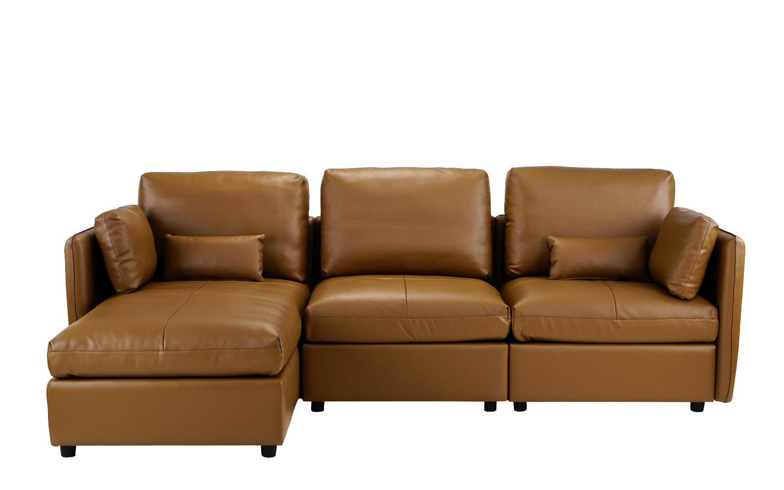 Leather Sectional Sofa Left Chaise Image