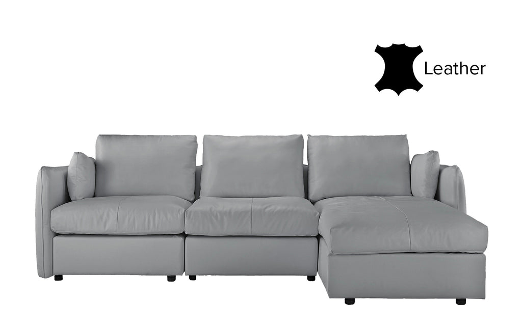 Admirable Avery Classic Leather Match Sectional Sofa With Right Chaise Gamerscity Chair Design For Home Gamerscityorg