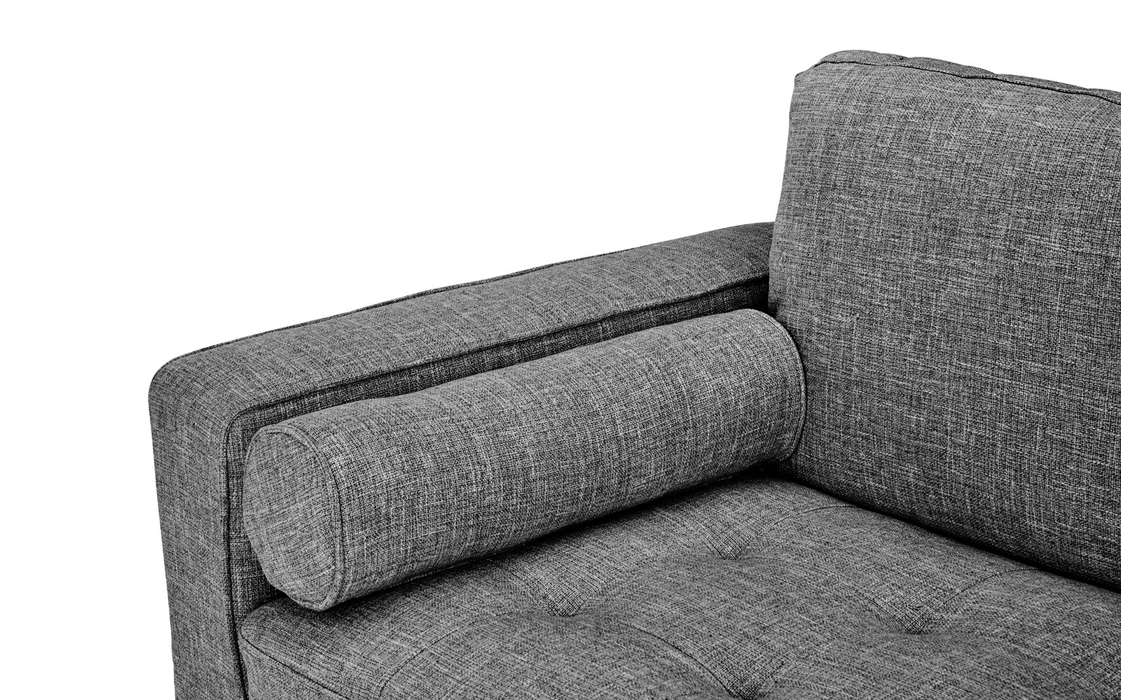 Excellent Ethan Mid Century Modern Fabric Sofa With Bolster Pillows Machost Co Dining Chair Design Ideas Machostcouk