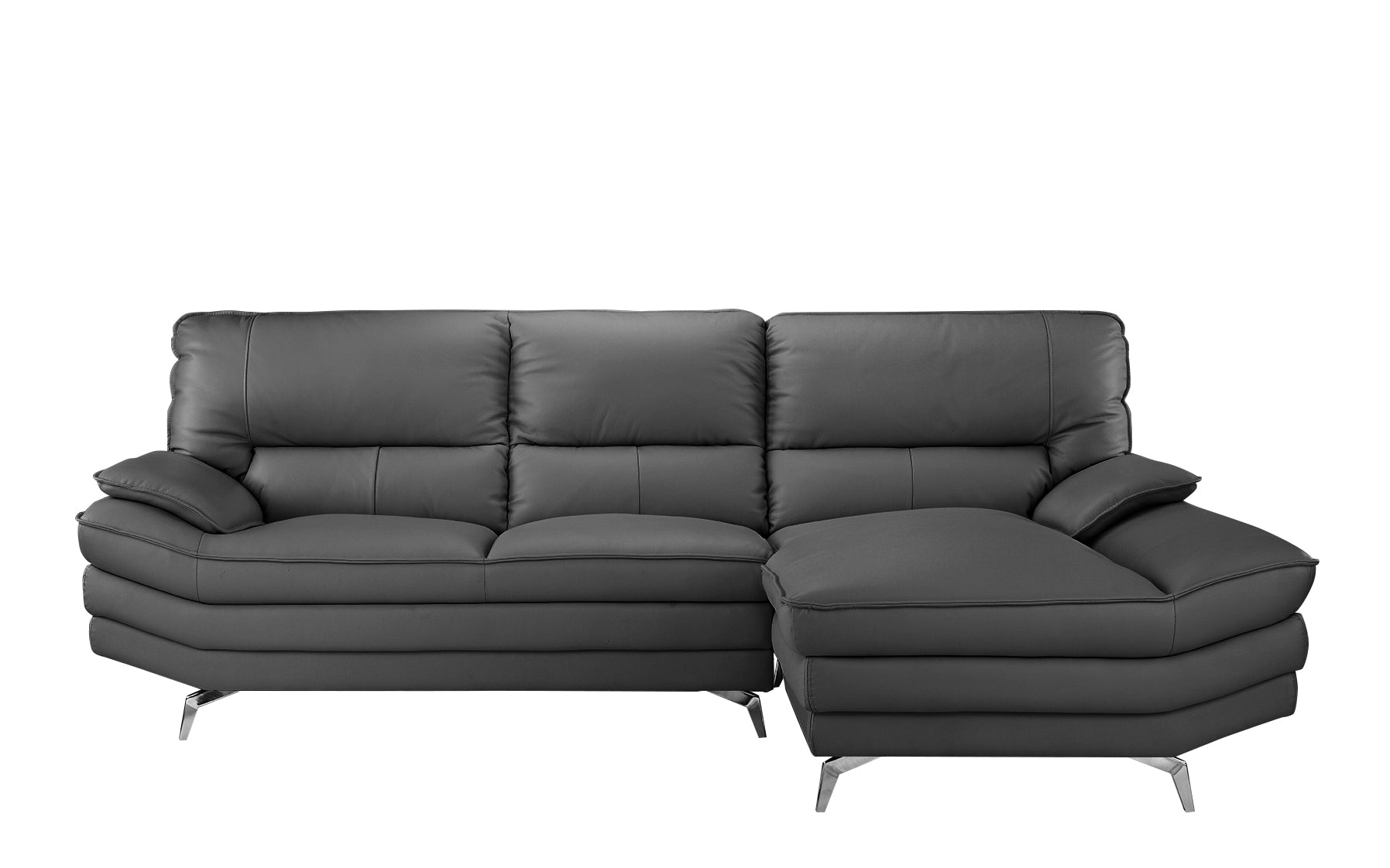 Desi Modern Leather L Shape Sectional Sofa