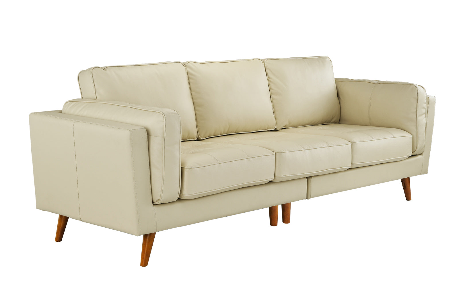 Mateo Mid-Century Palm Springs Style Leather Match Sofa