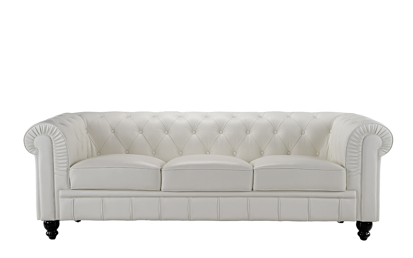 Jude Classic Victorian Leather Match Sofa | Sofamania.com