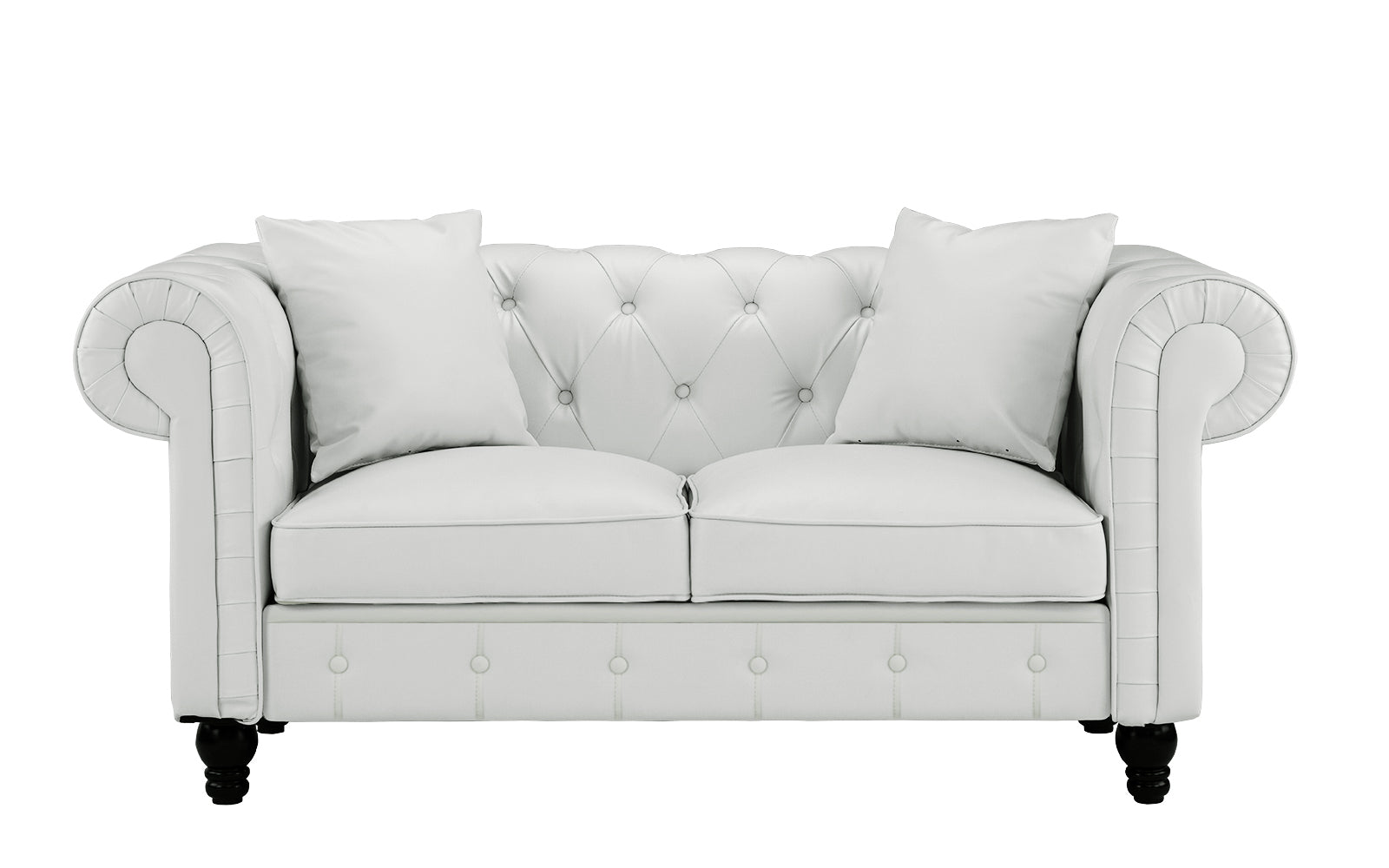 Bonded Leather Loveseat Image