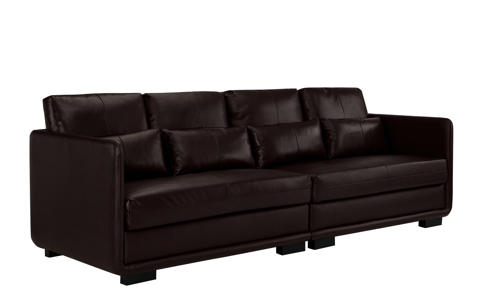 Nova Elegant Convertible Leather Sofa