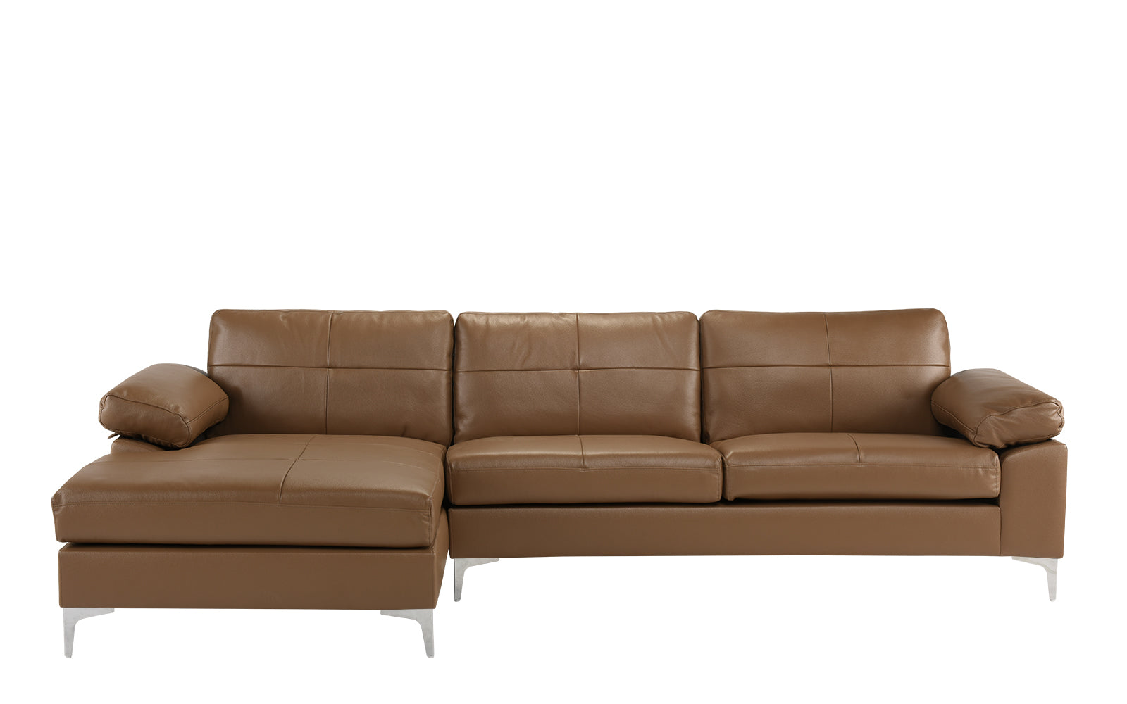 Leather L Shape Sectional Sofa Left Chaise Image