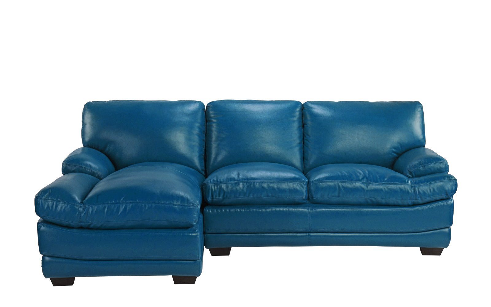 Leather Sectional Left Chaise Image