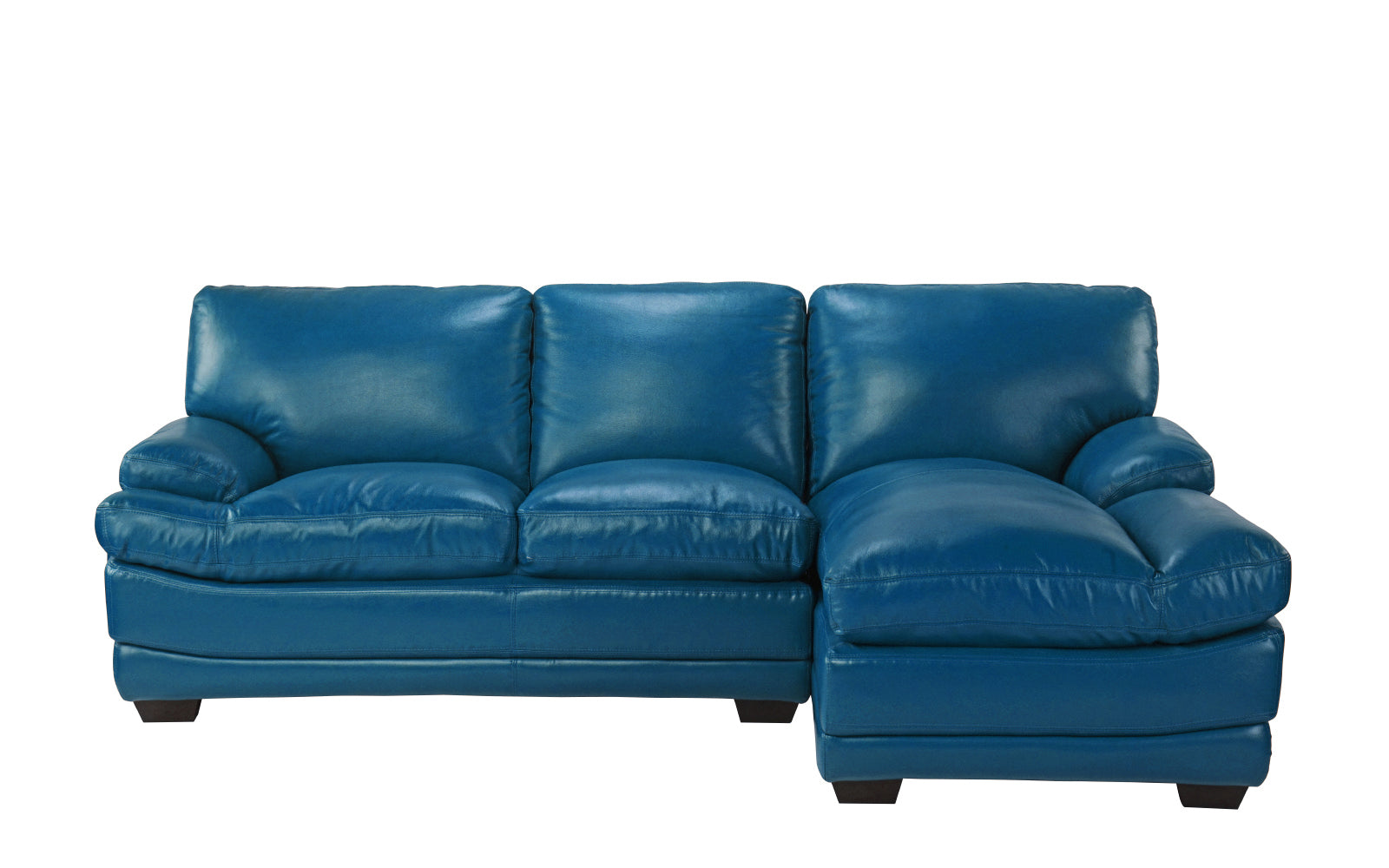 Leather Sectional Right Chaise Image
