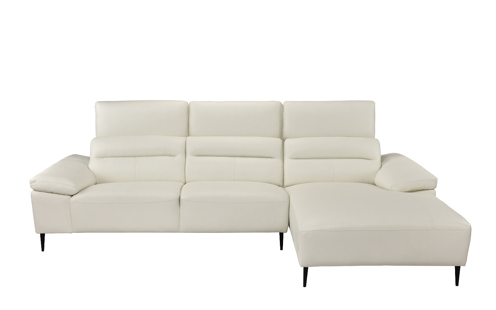Leather Sectional Sofa Right Chaise Image