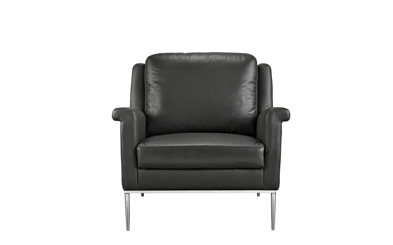 Leather Armchair Accent Legs Image