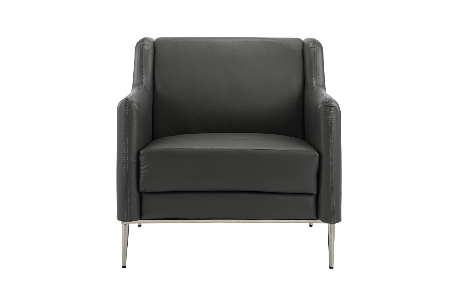 Leather Accent Club Chair Image