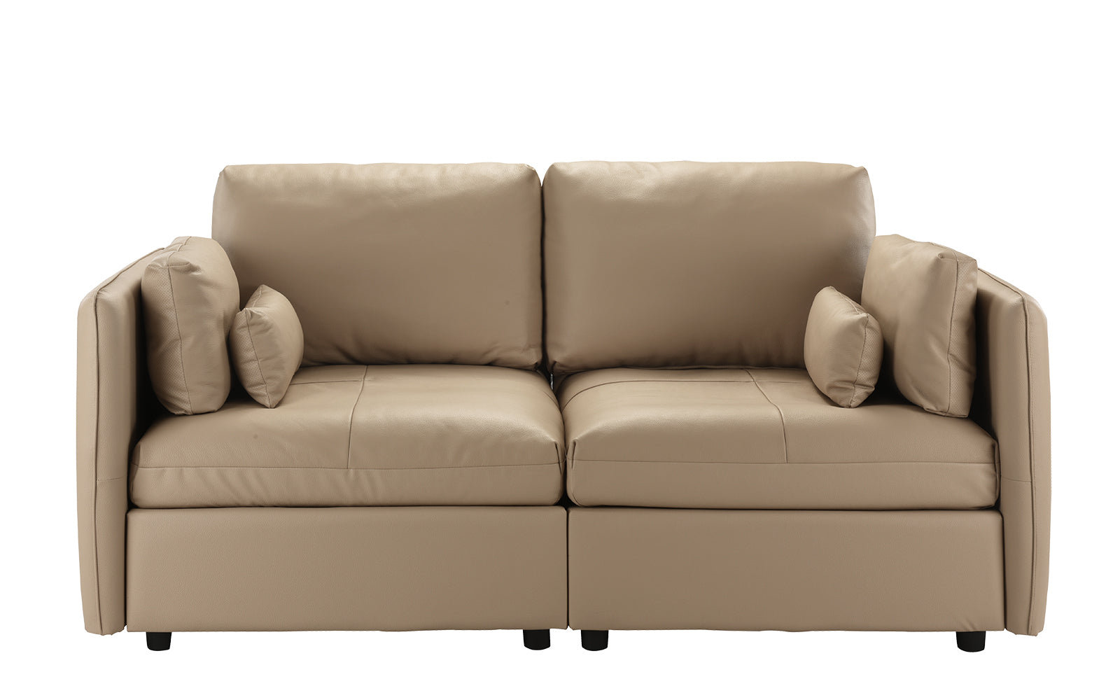 Faux Leather Loveseat Image