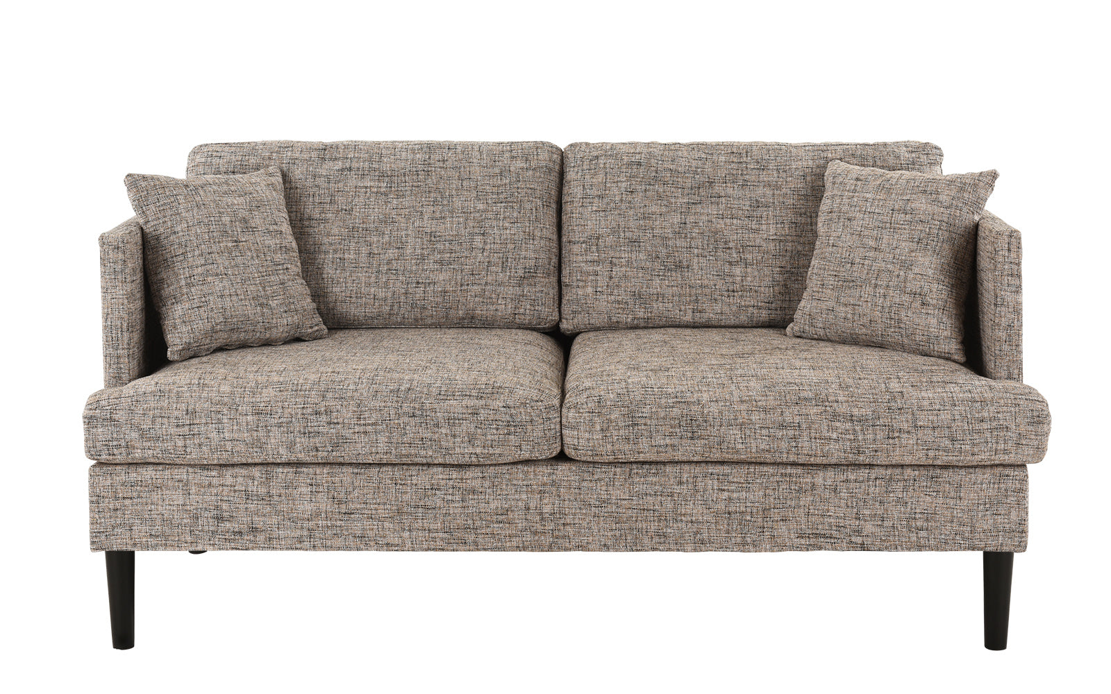 August Modern Loveseat Sofa With Wooden Legs